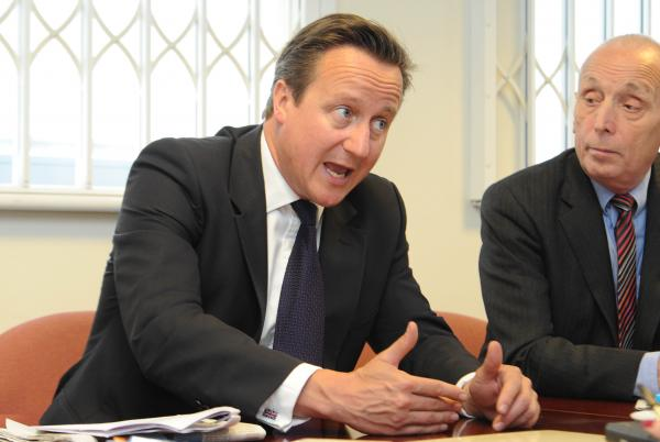 Prime Minister visits the Wirral Globe and gives his views on fracking, council cuts, bedroom tax, strikes and the 'Big Society'