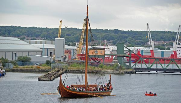 The Draken Harald at East Float dock. Picture by Paul Heaps.