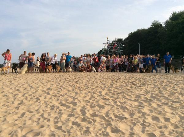 Members of Allow Dogs on New Brighton Beach campaign against the proposals.