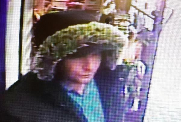 CCTV footage of the man police want to speak to in connection with the attempted armed robbery.