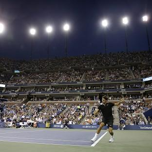Roger Federer continued his good form under the lights at Flushing Meadows (AP)