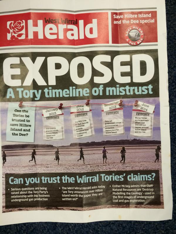 Storm as Labour newspaper claims to expose 'Tory lies' about future of Hilbre Island
