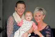 Michelle Finnigan, daughter Grace and mother-in-law Carol.