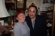 Mandy Kennedy, co-owner of Liberty Antiques, with David Gest.