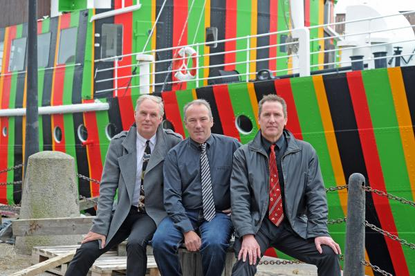 OMD's Paul Humphreys, Martin Cooper and Andy McCluskey during launch of exhibition at Museum of Liverpool. Picture: Paul Heaps