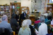 Esther McVey, Sajid Javid and Upton Library users group at their meeting on Thursday
