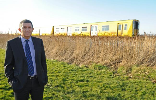 Cllr Steve Williams at the site of proposed railway station this afternoon. Picture: Paul Heaps