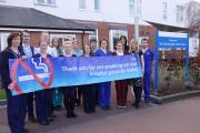 Staff at The Clatterbridge Cancer Centre support the campaign to become a smoke free site