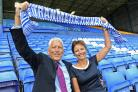 Co-owners of Tranmere Rovers Mark and Nicola Palios