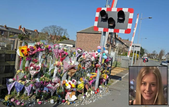 Tributes left for Rachelle Owen in Hoylake.