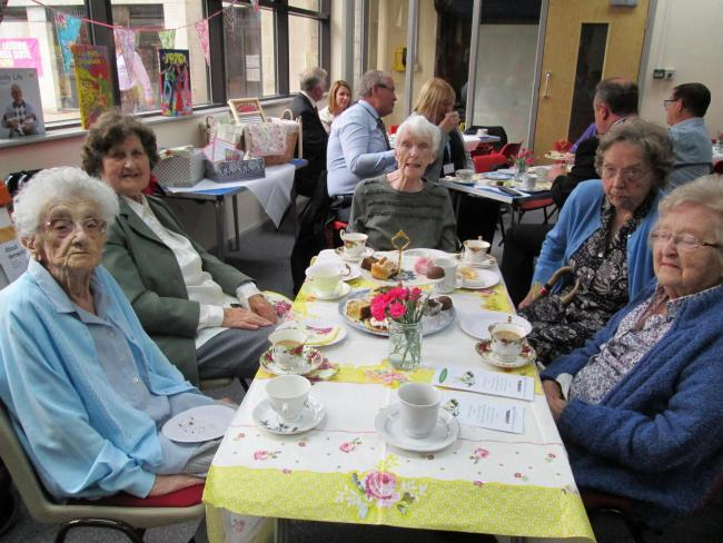 Residents of Hilbre Lodge care home in Hoylake during the launch event.