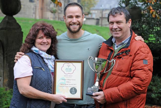 Bidston village, winners of Best Small Village. From left, Lynne O'Brien, Ryan Sherratt, and councillor Jim Crabtree. Picture: Paul Heaps