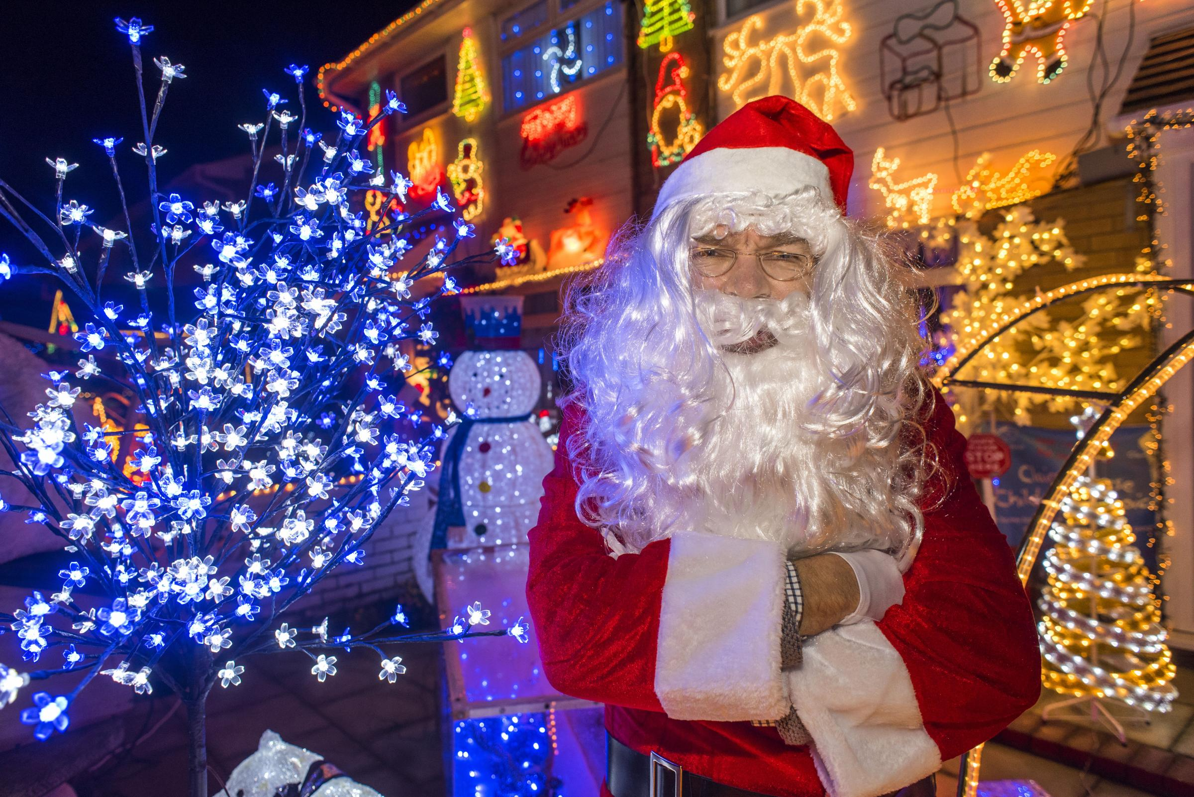 Father Christmas following the lights switch-on in Amberley Close last year. All pictures: Geoff Davies