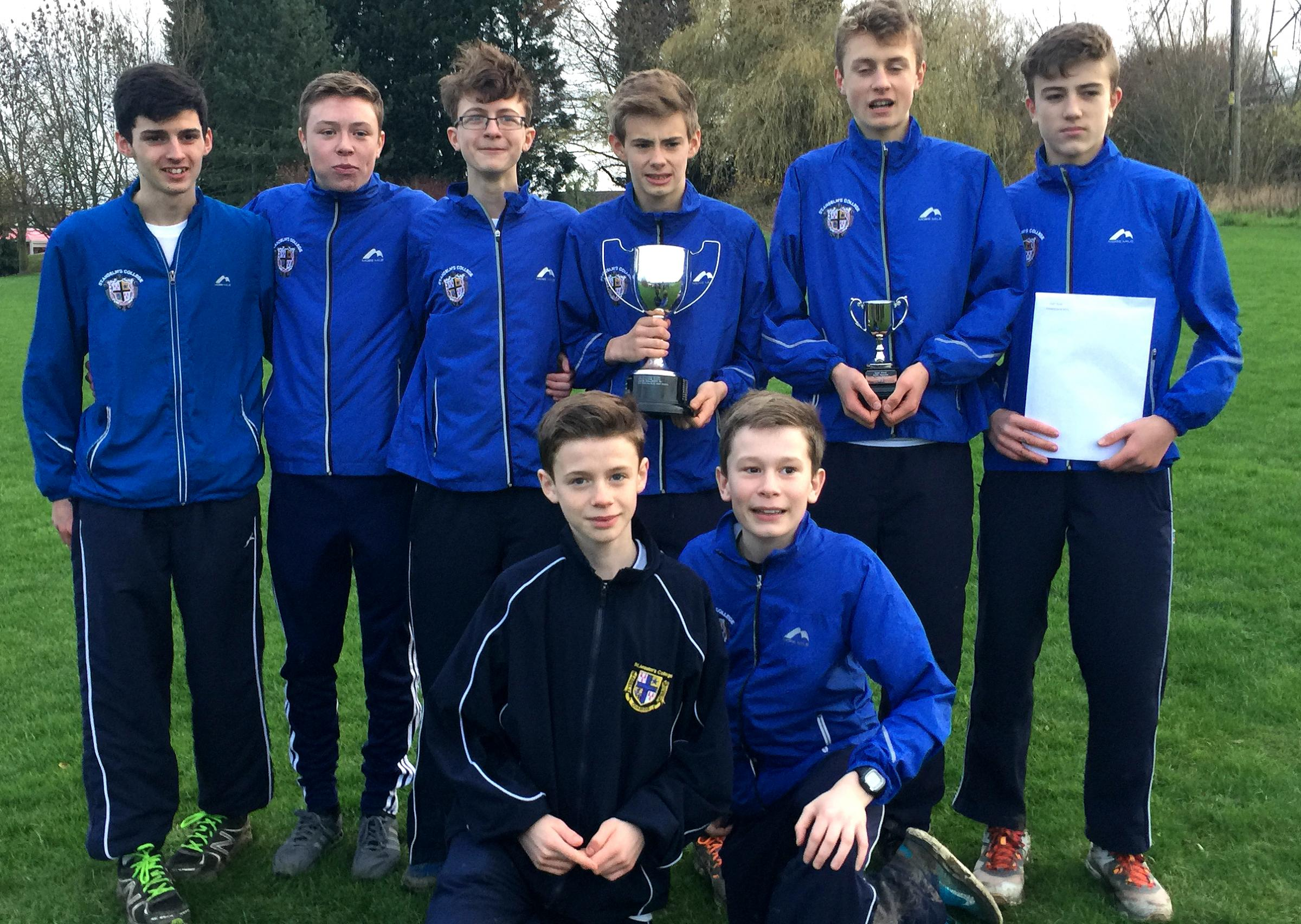 St Anselm's College Under-15 cross country team are national champions