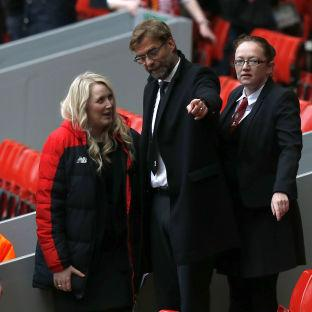 Wirral Globe: Manager Jurgen Klopp arrives for the last memorial service to be held at Anfield, Liverpool, to mark 27 years to the day since the tragedy claimed 96 lives