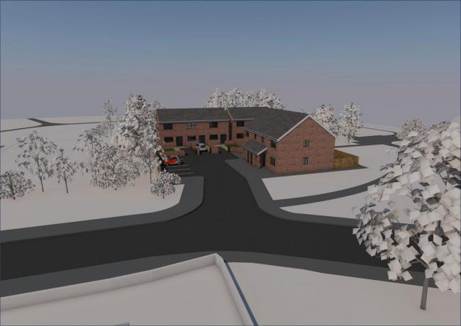 Artist's impression of the housing development on One O'Clock Gun pub site