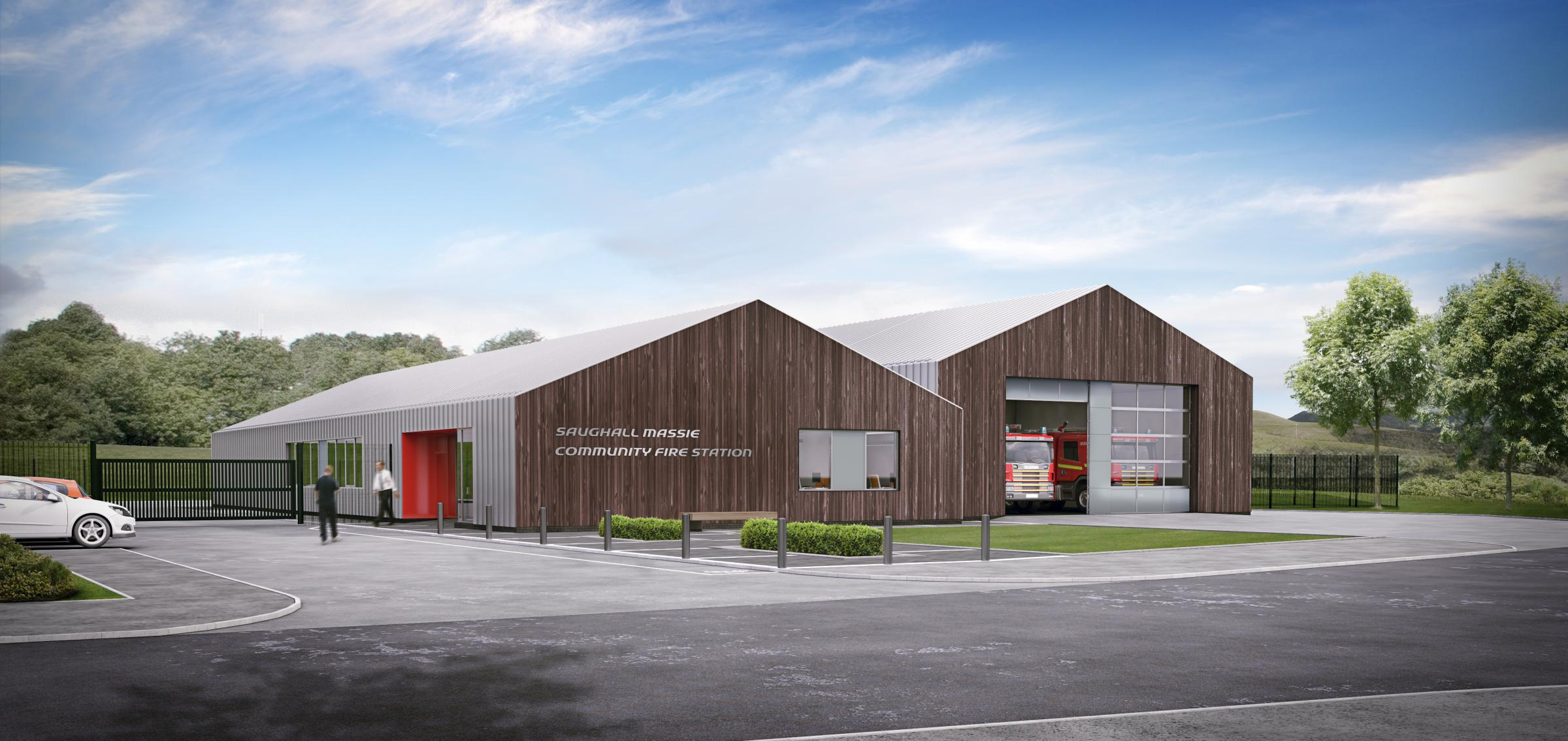 How the new fire station at Saughall Massie would look