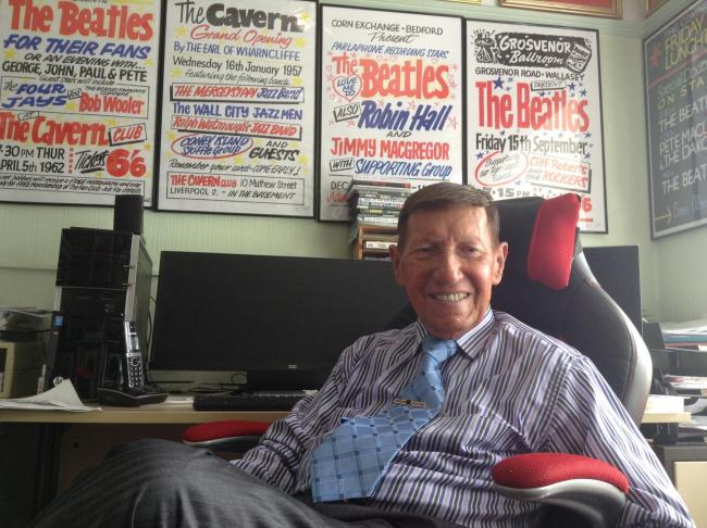 Tony Booth will be holding an exhibition later this month, displaying posters which were used to advertise The Beatles gigs.