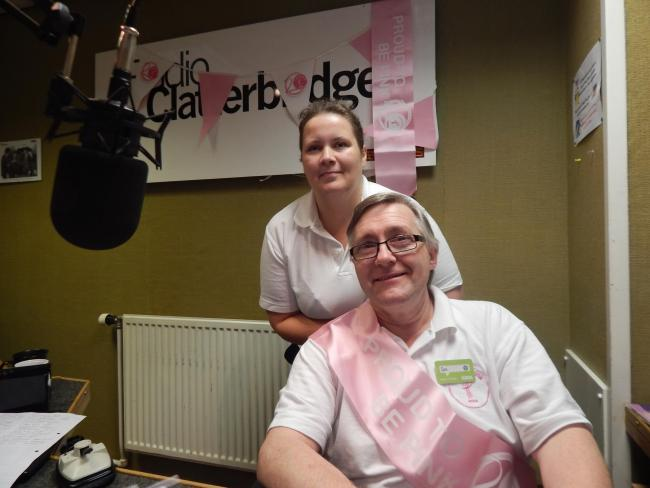 Ian and Helen during their 20-hour broadcast