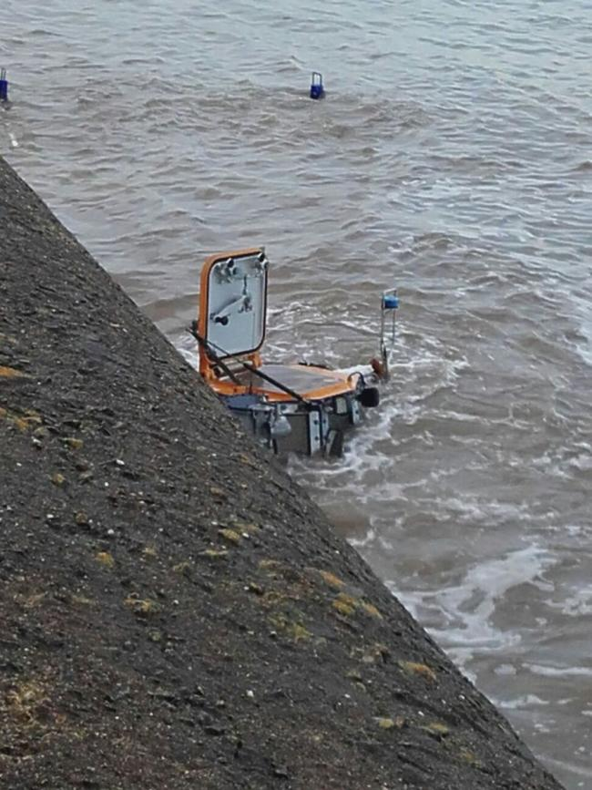 AN investigation is underway after an RNLI tractor became submerged at New Brighton