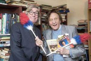 Wirral Globe: Comic legend Ken Dodd celebrates re-opening of Literally Bookshop in New Brighton with co-founder and Globe columnist Peter Grant. Picture: Geoff Davies. Full story here