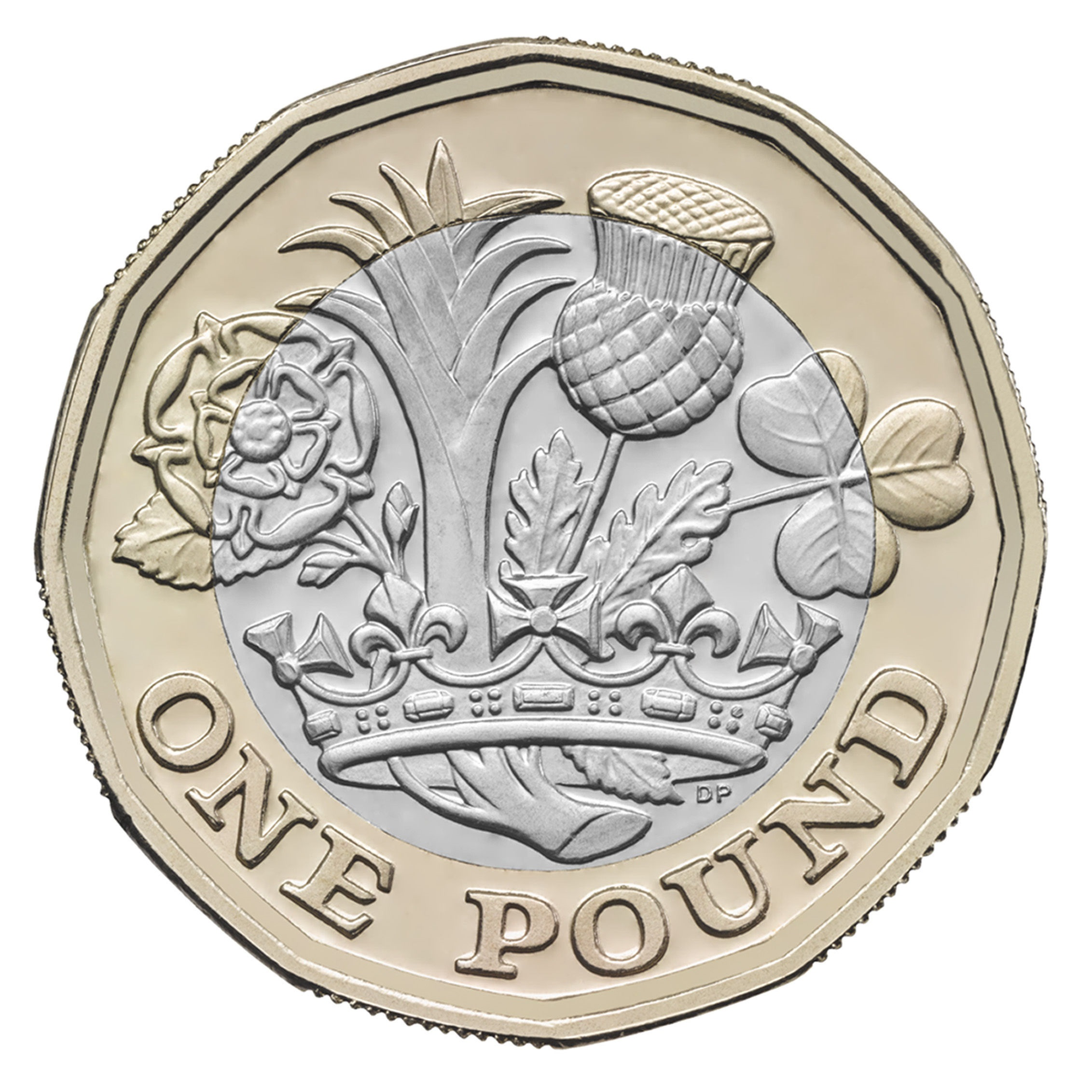 The new 12-sided pound. Picture: PA