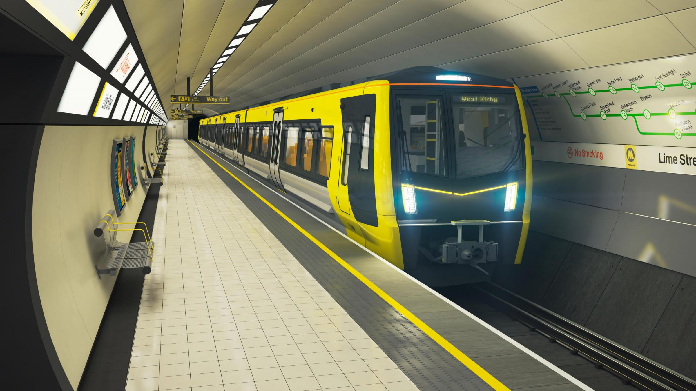 How the new driver-only Merseyrail trains will look