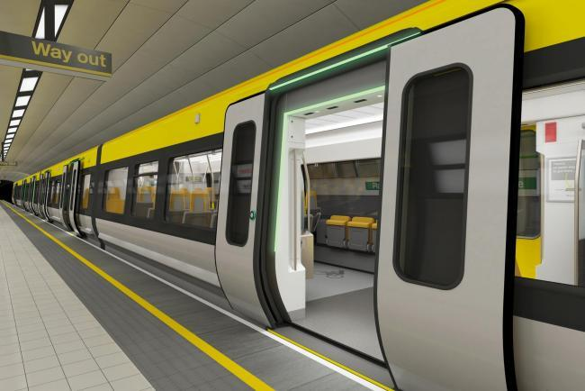 Artist's impression of the driver-only trains that were approved by Merseyrail in December