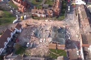 The devastation seen from a Merseyside Fire & Rescue drone