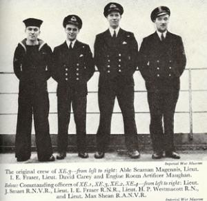 Magennis and Fraser (first and second left)