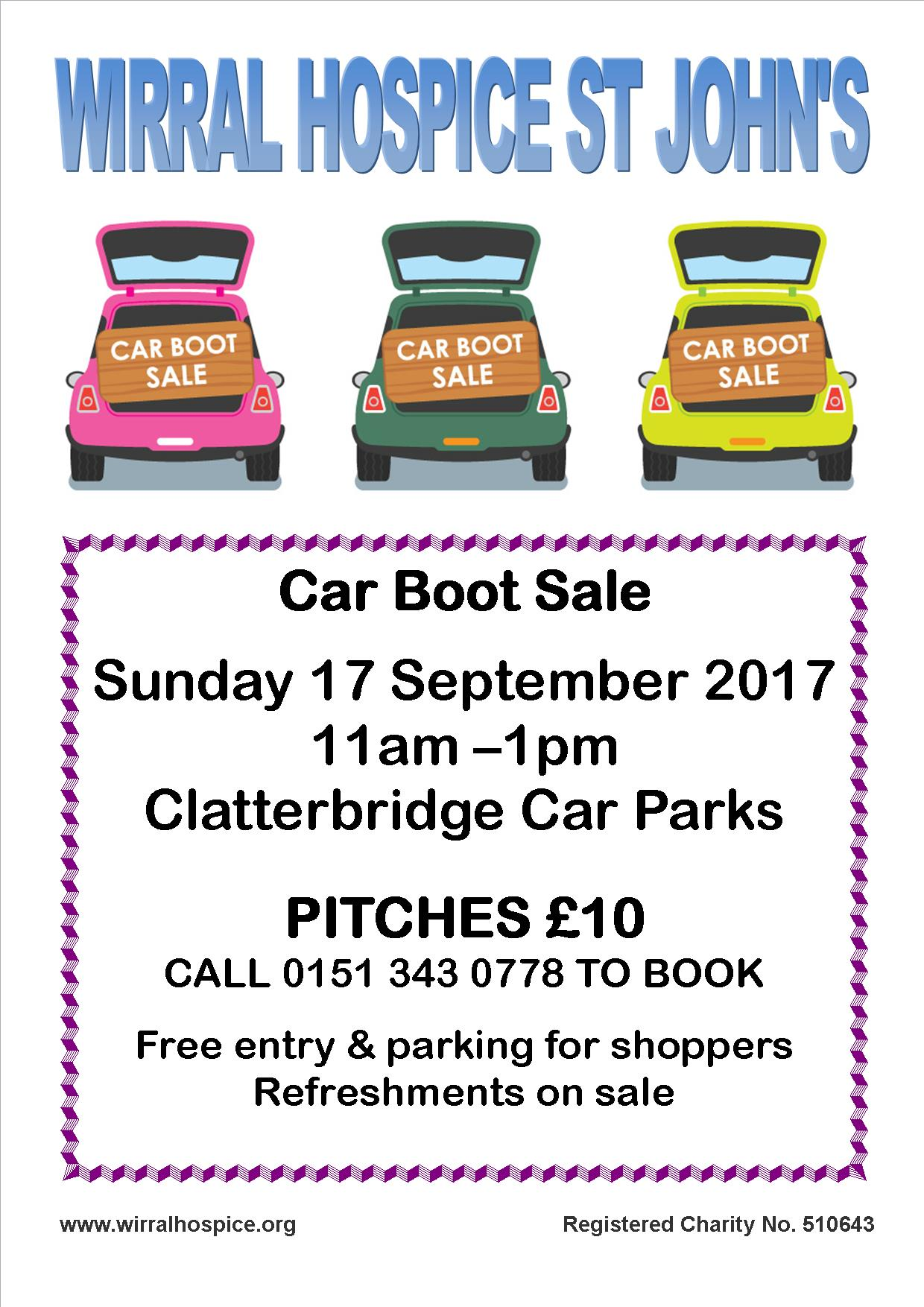 Car Boot Sale - Wirral Hospice St John's