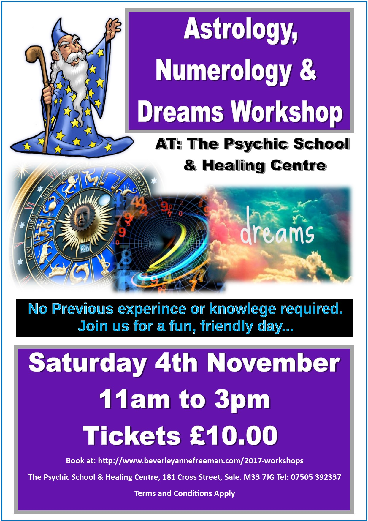 Astrology, Numerology & Dreams Workshop