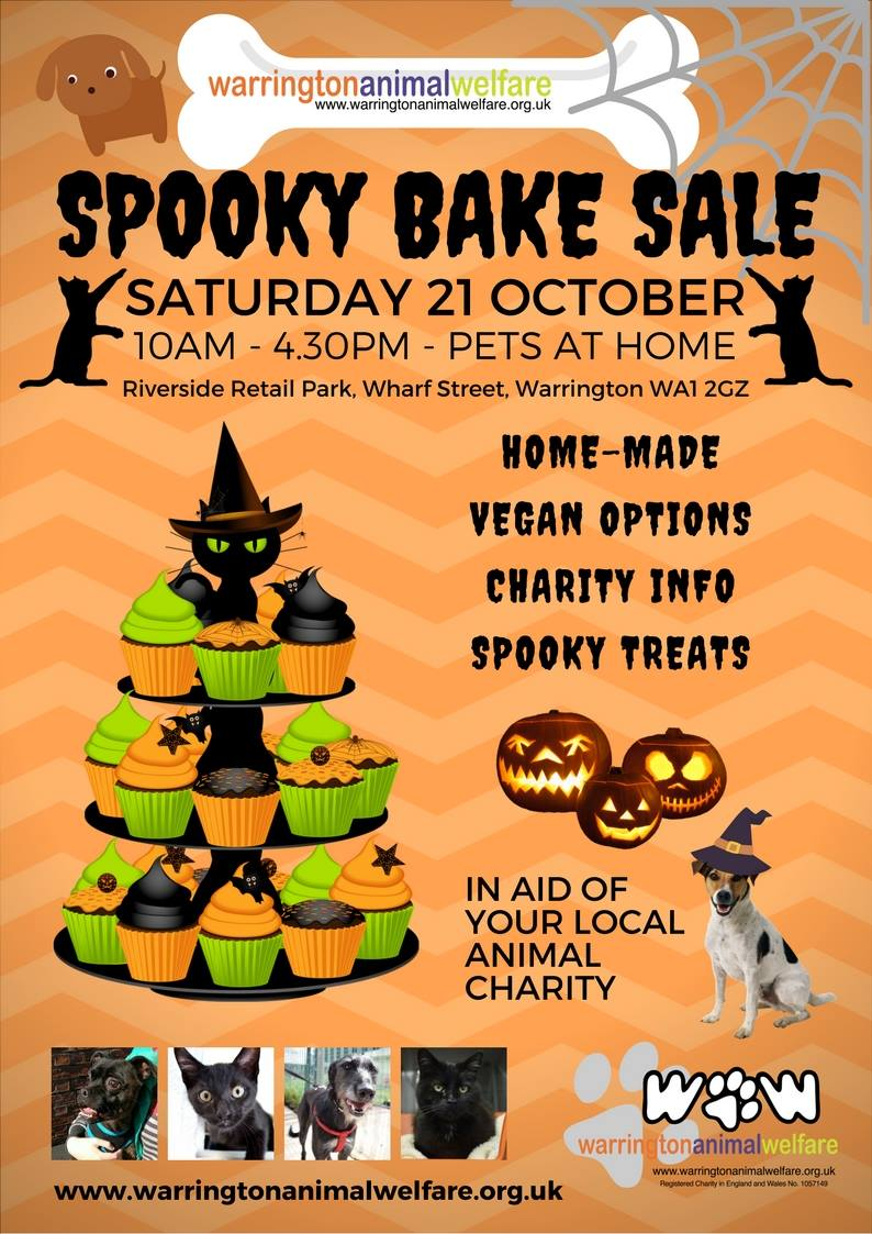 Warrington Animal Welfare Spooky Bake Sale