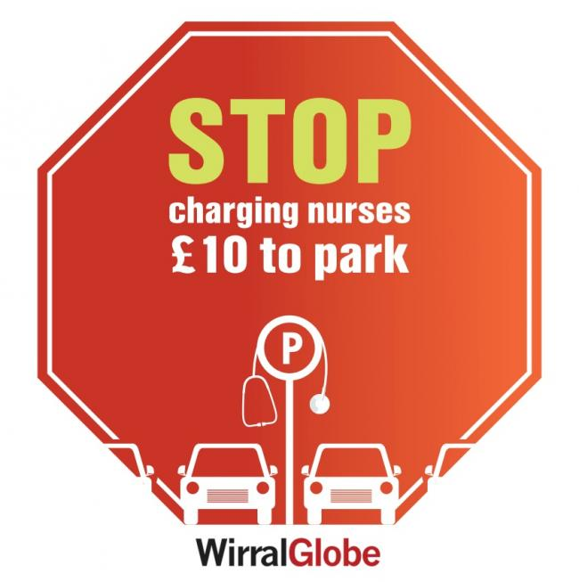 Globe's campaign against urging Arrowe Park Hospital bosses to scrap £10 parking charges for nurses and staff was launched in September