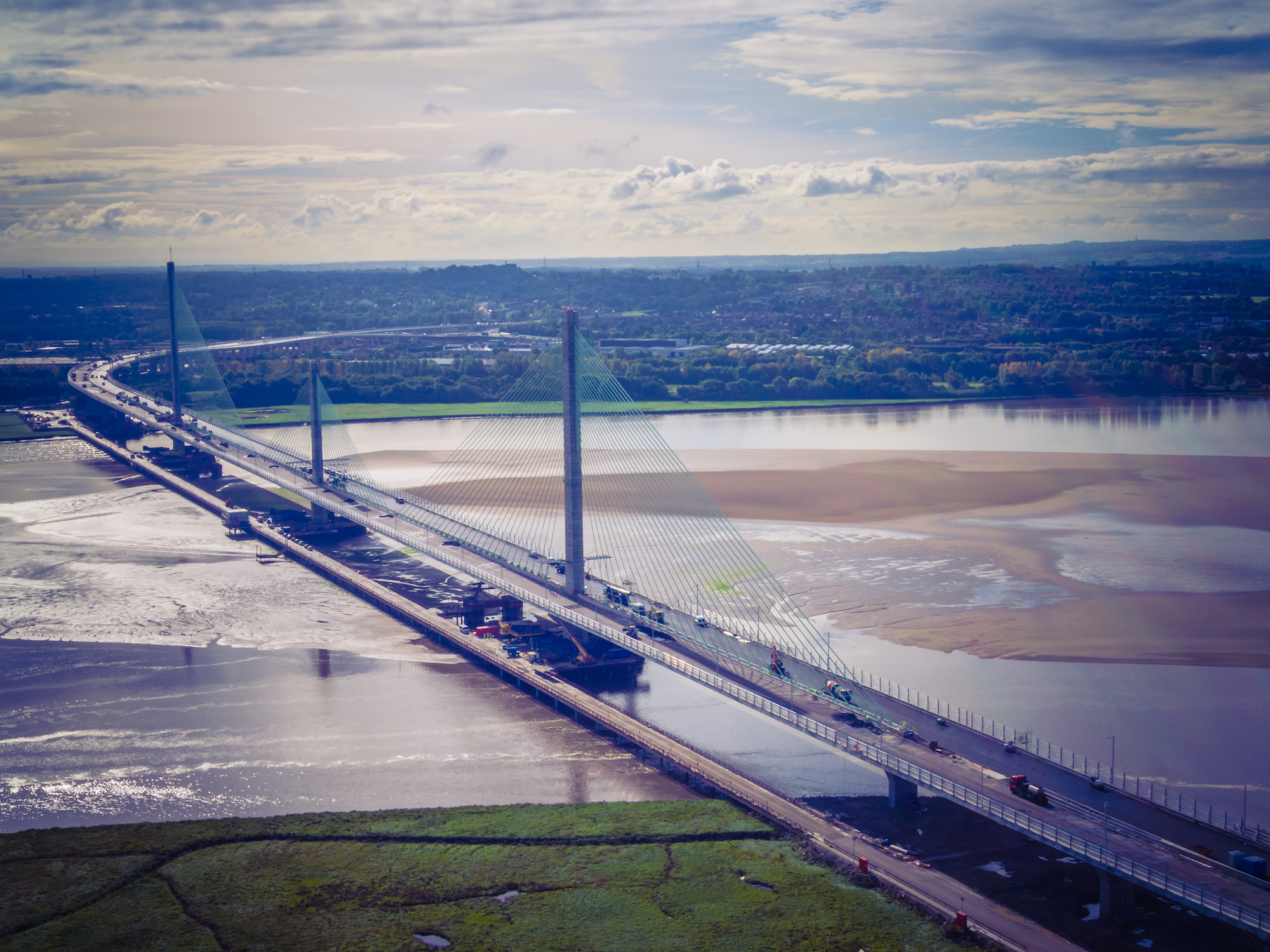 Aerial view of the Mersey Gateway bridge, which is set to open this weekend