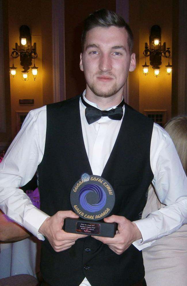 Sean Doyle with his Exceptional Newcomer award