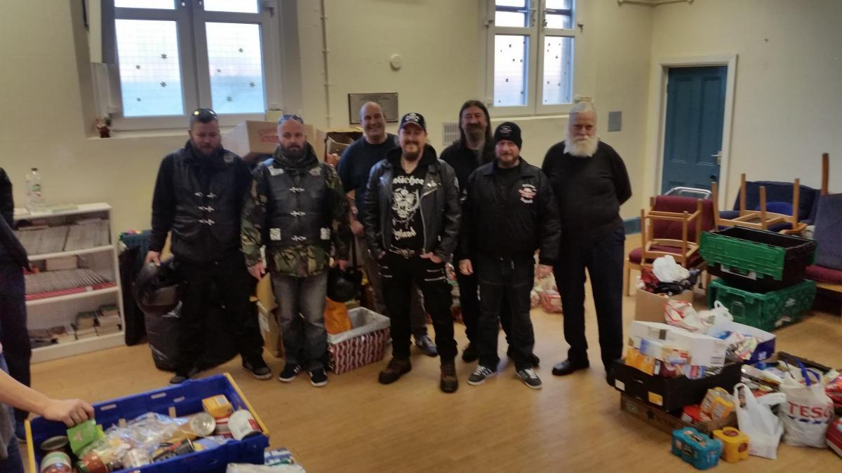 Biker groups donate tonnes of food to Charles Thompson