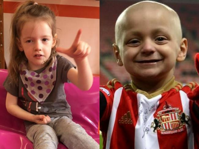 Edie Molyneux is currently having treatment in Mexico and Bradley Lowery who's family have pledged support