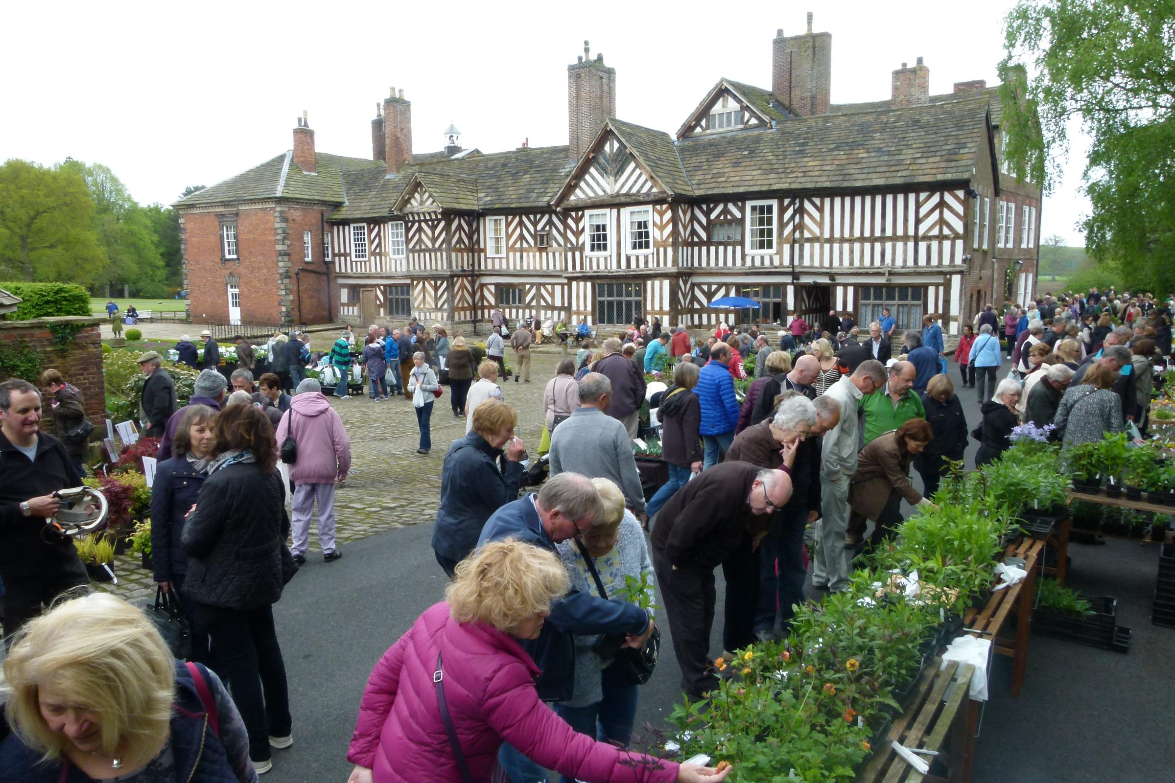 Plant Hunters' Fair at Adlington Hall, Macclesfield on Sunday 13th May