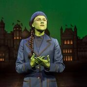 Amy Ross as Elphaba in 'Wicked' - set to return to Liverpool Empire