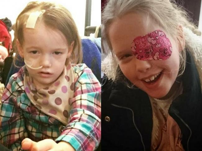 (Left to right) Edie Molyneux and Lucy Moroney have both been receiving treatment for an inoperable brain tumour in Mexico