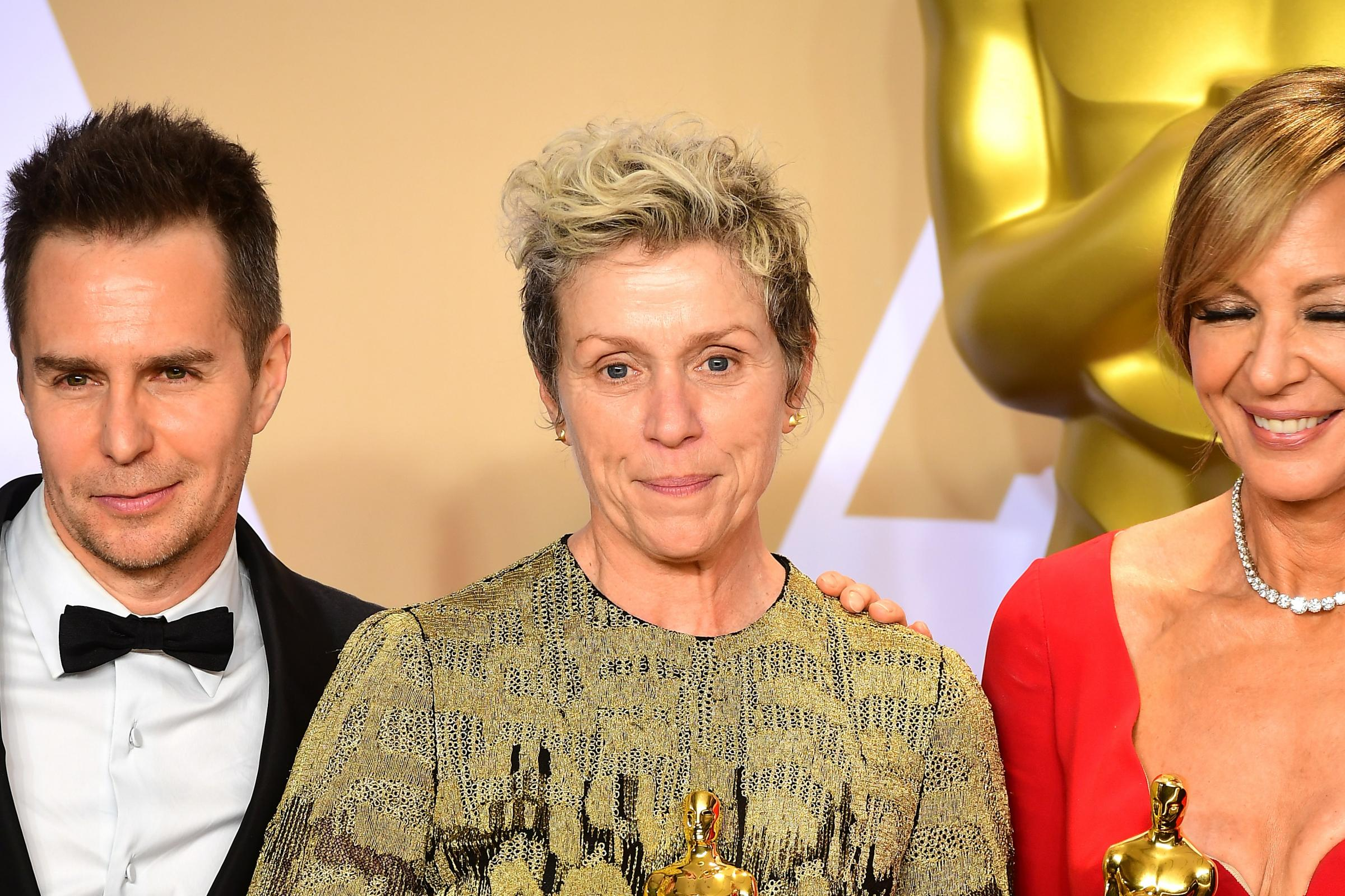 Frances McDormand with her best actress Oscar (Ian West/PA)