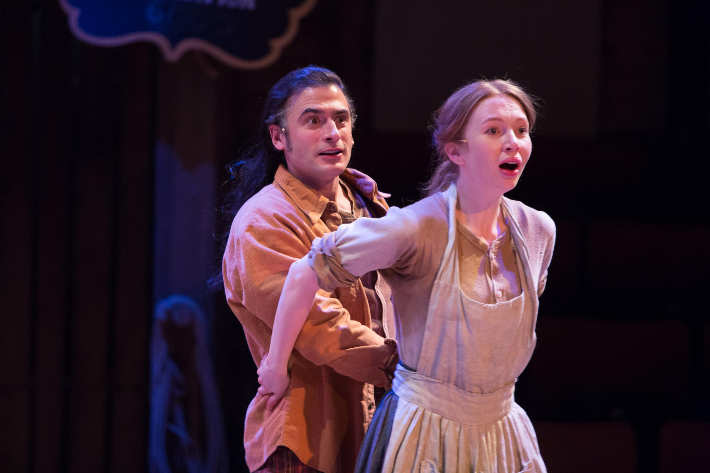 Marc Elliott and Emily Hughes as Julio and Jennifer. (Picture: Jonathan Keenan)
