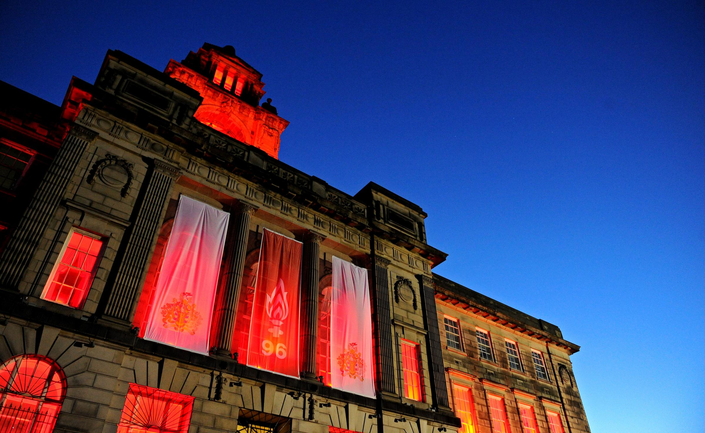 Wallasey Town Hall will be floodlit to  commemorate the 29th anniversary of the Hillsborough tragedy on Sunday