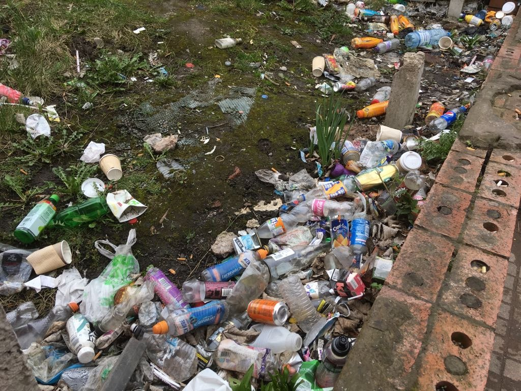 Concerns were raised over New Chester Road which has been plagued by litter