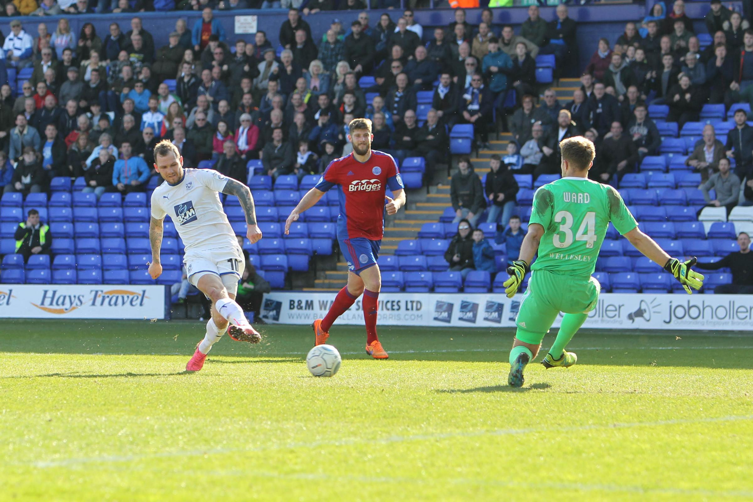 Rovers' James Norwood on the ball against Aldershot Town. Picture: Richard Ault