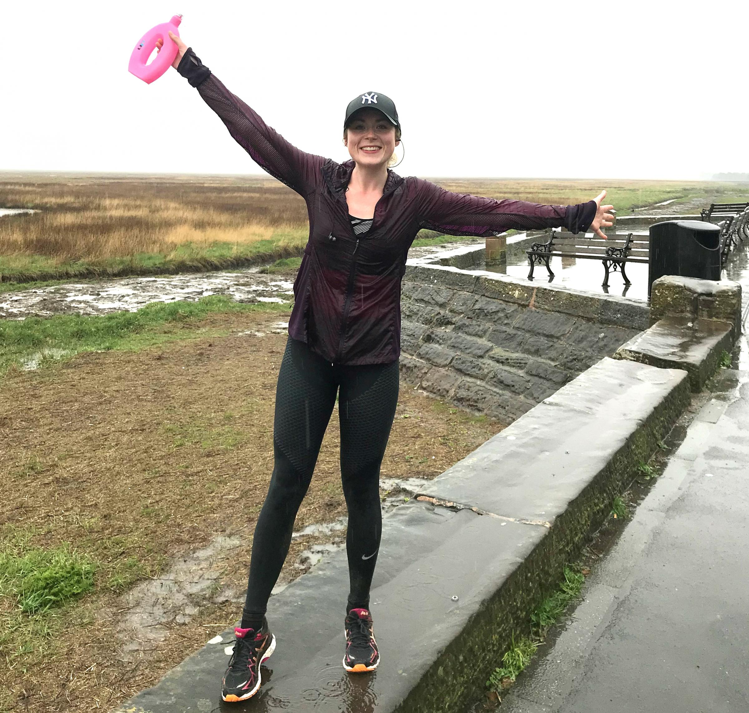 Wirral solicitor Annie Thomas during training for this Sunday's London Marathon