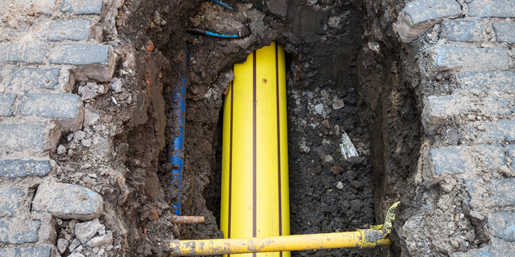 Library pic of Cadent's gas pipe work