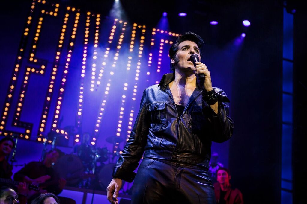 Steve Michaels in 'This is Elvis'. Pictures by Pamela Raith