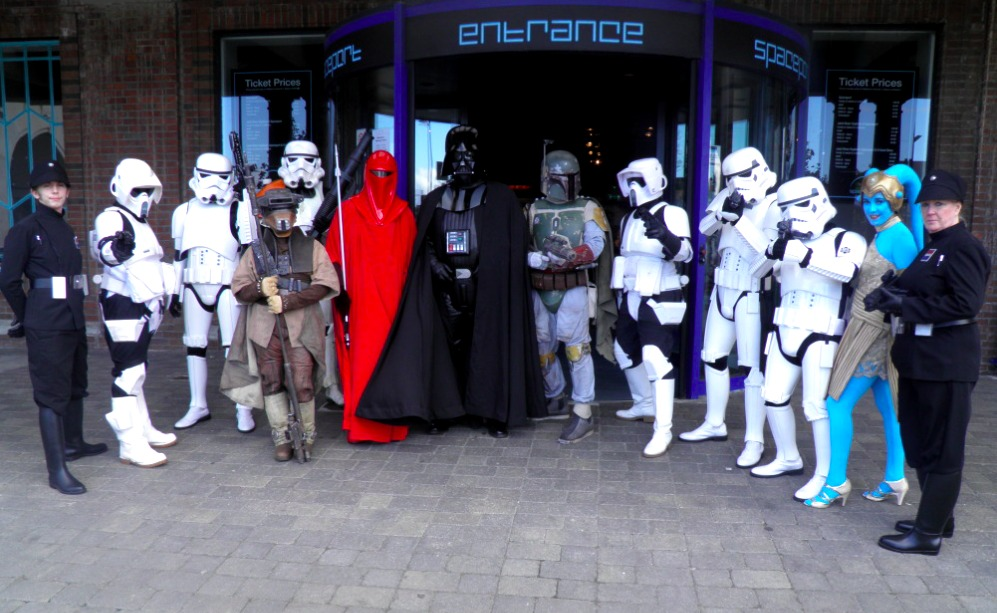 Star Wars based costume group, 99th Garrison, are set to perform at Spaceport to celebrate the one-year anniversary of the popular Sci-Fi Icons exhibition